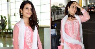 Dangal actress Fatima Sana Shaikh's ultimate desi look at airport will leave you drooling over her simplicity
