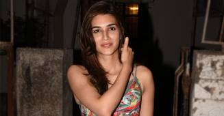 Kriti Sanon Enhances her Ravishing Look in a Mind-Blowing Mini Ensemble with a Plunging Neckline