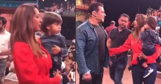 In Pictures: Salman Khan meets Krushna Abhishek and Kashmera's adorable kids on the sets of TKSS