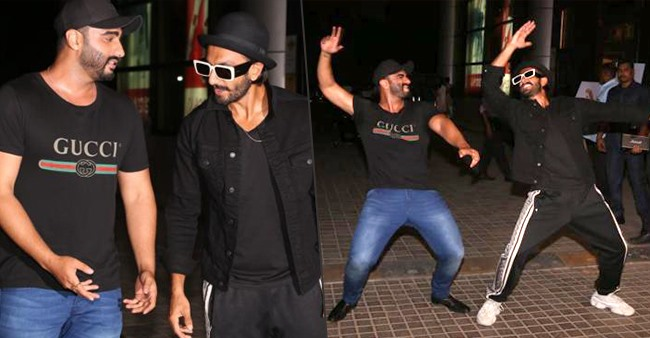 Arjun Kapoor and Ranveer Singh had a gala time during the special screening of India's Most Wanted