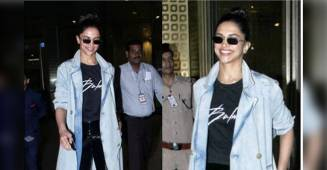 Deepika Padukone grabs the limelight with her Denim Trench Coat