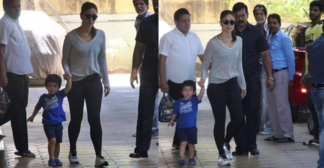Kareena Kapoor Khan goes to pick Taimur from school. Both look adorable in pictures