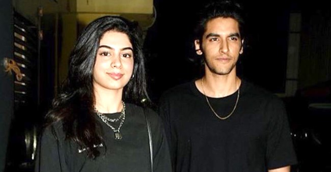 Khushi Kapoor spotted with her model friend Ansh Duggal on the screening of 'SOTY 2'