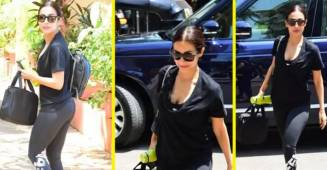 Malaika Arora makes all the heads turn towards her as she walks out of the gym in full black