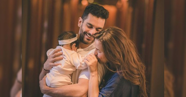 Neha Dhupia shares an adorable picture as daughter completes six months today