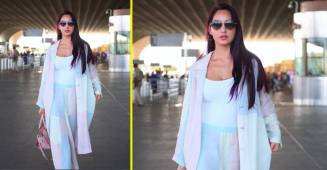 Nora Fatehi looks absolutely stunning in her latest airport look as she heads to Dubai