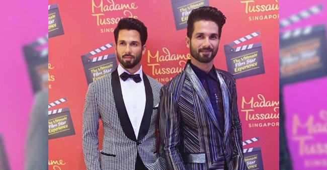 Shahid Kapoor finally unveils his wax statue at Madame Tussauds in Singapore.