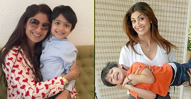 Shilpa Shetty posted a video of son Viaan Raj Kundra doing