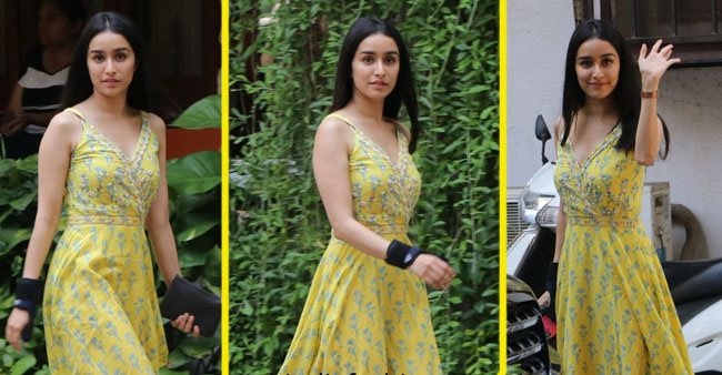 Shraddha Kapoor steps out looking beautiful in yellow floral print dress
