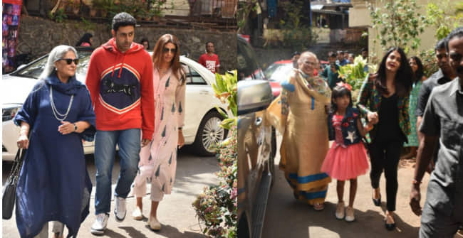The Bachchan Family were spotted all together attending an event in Mumbai