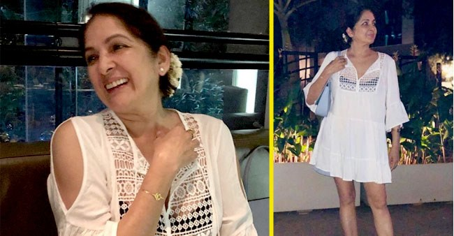 Neena Gupta Looks Stunning in Mini White Sheer Outfit, Stepped Out for Dinner