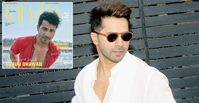 Varun Dhawan adorns the magazine cover with his cool summery looks