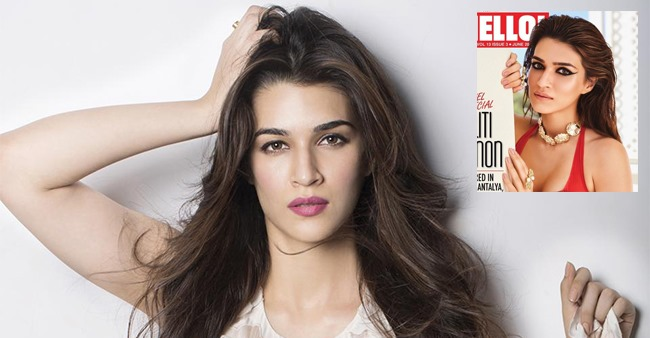 Luka Chuppi Actress Kriti Sanon Looks Sizzling in a Red Bikini Top on a 'Hello India' Magazine Cover