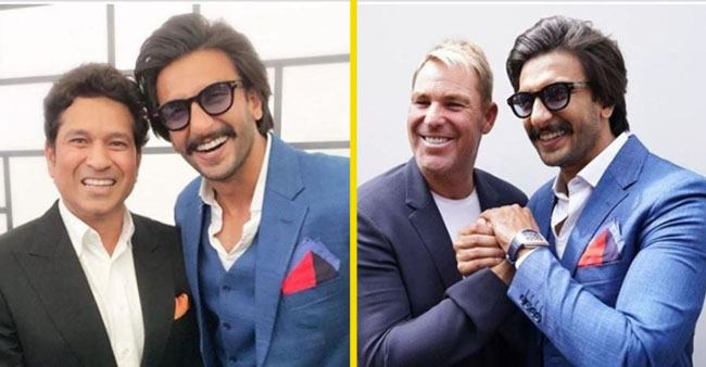 Ranveer Singh's pictures with Sachin Tendulkar, Sunil Gavaskar and Shane Warne will make most cricket fans jealous