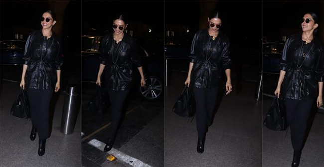 Deepika Padukone Looks Absolutely Stunning in All Black Outfit at the Airport, see pics