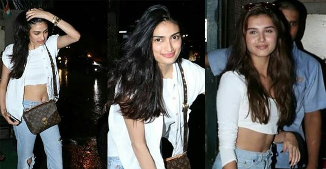 Athiya Shetty And Tara Sutaria Bond Over White Crop Top At A Dinner Outing
