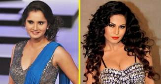 Sania Mirza and Veena Malik accidentally got into a bad blooded spat on Twitter; both question each other's parenting