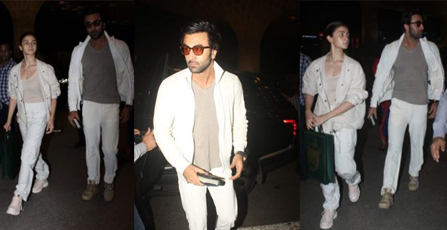 Lovebirds Alia Bhatt and Ranbir Kapoor twinning in white as they head to Varanasi for Brahmastra's shoot, see pics