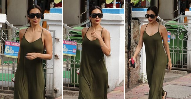 Malaika Arora Looks Dapper in an Olive Green Dress as she heads out for Dinner with a Friend, see pics