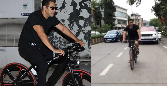 Salman Khan Shares an Important Lesson of Life as Caption for his Latest Post Where he Can be Seen Cyling Around in Mumbai