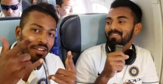Babies Day Out: Indian cricketers KL Rahul and Hardik Pandya enthrall kids at a cricket clinic in England