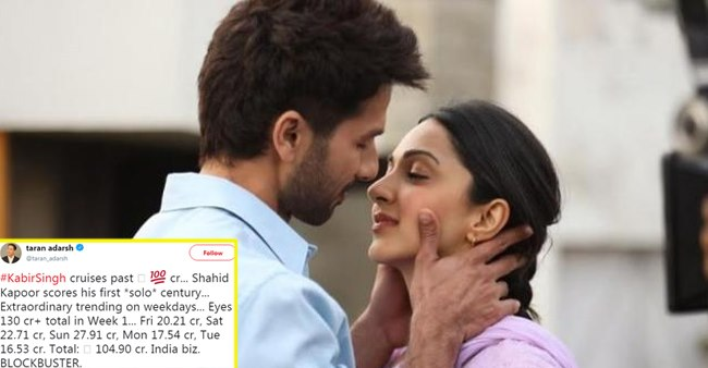 Box Office Collections: Shahid Kapoor's Kabir Singh Smashes Past 100 Crore Mark; Bharat Slowly and Steadily Surviving Somehow