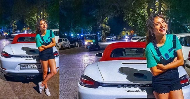 Ankita Lokhande looks amazing as she candidly poses with a Porsche