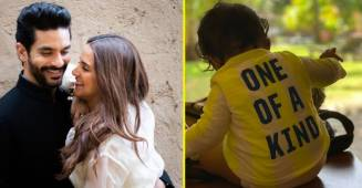 Neha Dhupia and Angad Bedi celebrates 7 months of their daughter's existence