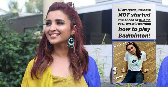Parineeti Chopra is working hard for her next film which is a Biopic of Saina Nehwal.