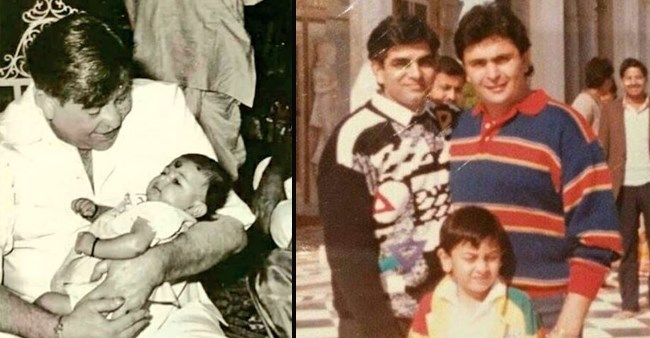 Rishi Kapoor retweets an amazing throwback picture of him and Ranbir Kapoor