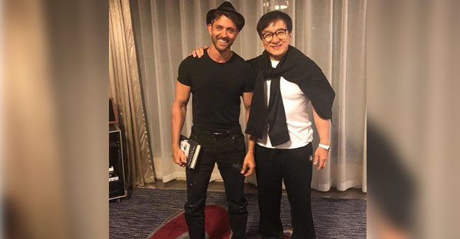 Hrithik Roshan And Jackie Chan Poses For The Same Frame In China