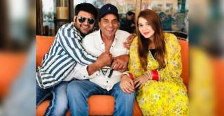 Kapil Sharma And Wife Ginni Chatrath Meet With Lucky Mascot of Kapil, Dharmendra