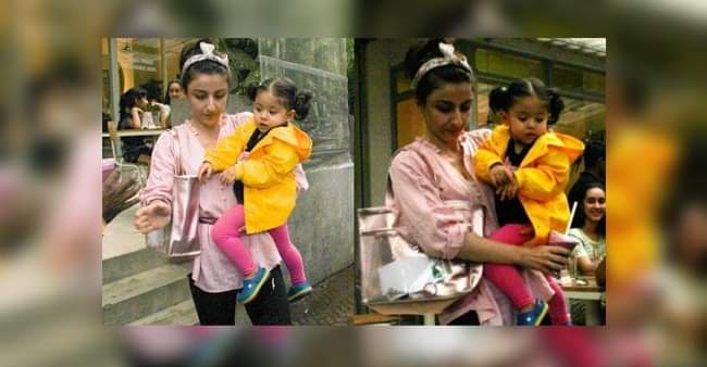 Inaaya Naumi Kemmu's little yellow raincoat won the internet's heart