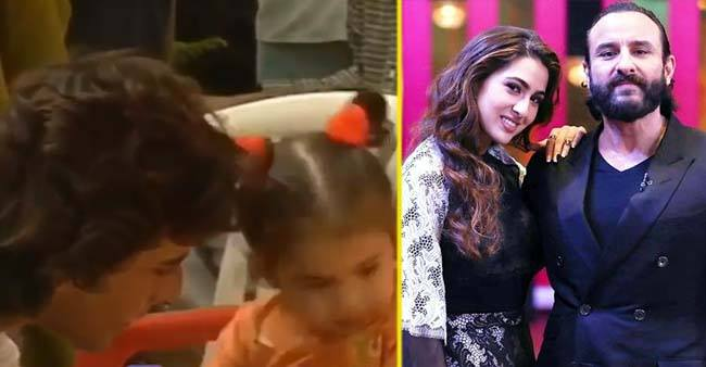 Watch: Viral video of baby Sarah Ali Khan playing with father Saif on the film sets is the most adorable thing you will see