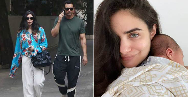 Arjun Rampal and GF Gabriella introduce their newborn boy to the world with latest pic