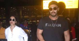 Malaika Arora and Arjun Kapoor clicked at the airport together upon their return from New York Vacation