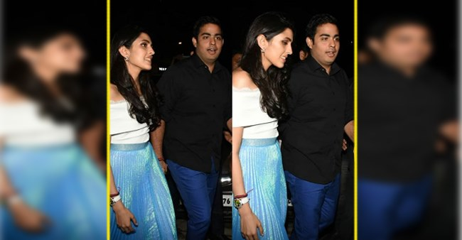 Lovebirds Akash Ambani and Shloka Mehta Give Away Adorable Vibes as They Head Out Hand in Hand in Mumbai