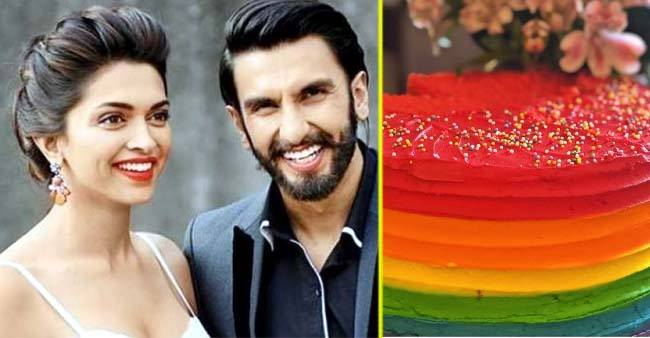 Deepika Padukone reveals the picture of rainbow frosted cake for her husband Ranveer Singh