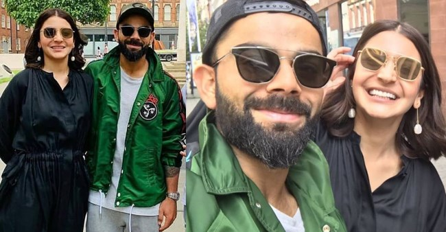 Virat Kohli and Anushka Sharma spotted in the streets of Manchester as they obliged to a fans' request for selfie
