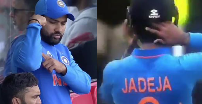 Rohit Sharma gestures Ravindra Jadeja to 'Be Strong' after his stunning knock against New Zealand