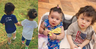 Taimur Ali Khan Holds Hand Of Cousin Inaaya Naumi Kemmu For A Walk Together