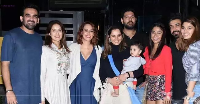 Yuvraj-Hazel, Zaheer-Sagarika and Sania Mirza step out for dinner together, see pics
