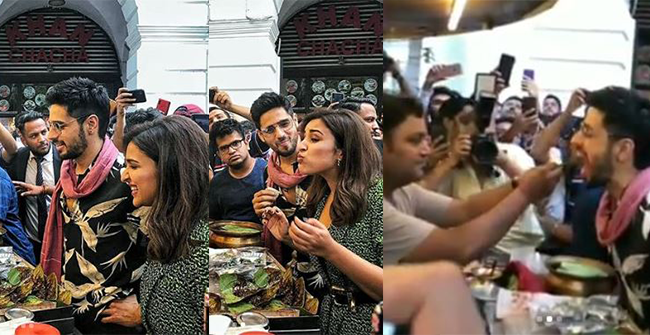 Watch: Sidharth Malhotra and Parineeti Chopra getting excited as they try the famous paan of Delhi