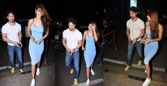 Tiger Shroff and Disha Patani head out for a dinner date, paps click their smiling faces