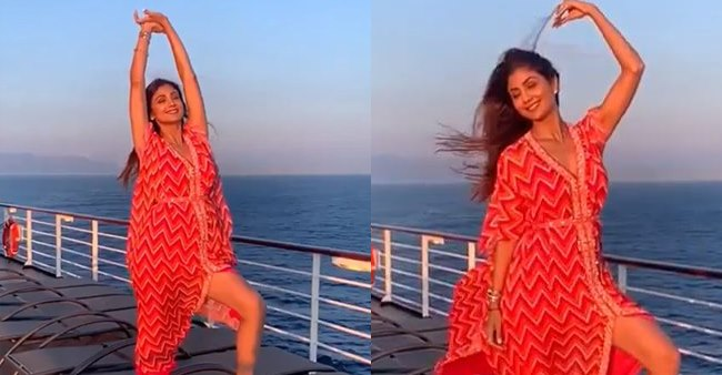 Watch: Shilpa Shetty's Oops Moment as she tries to do a Marilyn Monroe shot
