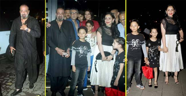 Sanjay Dutt spotted at a restaurant in Bandra with family ahead of his birthday, see pics
