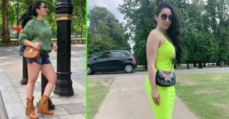 Maanayata Dutt spotted wearing clumsy see through sweater and shorts, see pics
