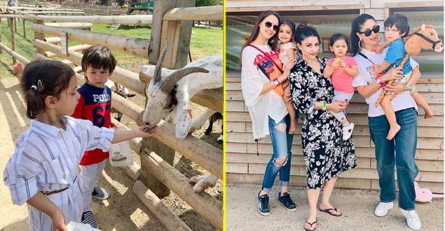 This picture of Taimur Ali suspiciously staring at her friend Kainaat Singha has everyone in splits