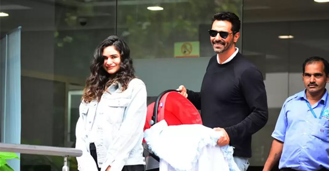 Arjun Rampal and GF Gabriella Demetriades Take Their Baby Boy Back Home