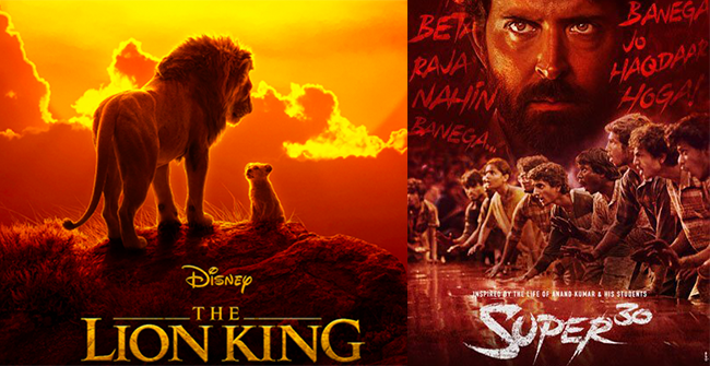 Box office collection of recent movies, The Lion King opened with good collection